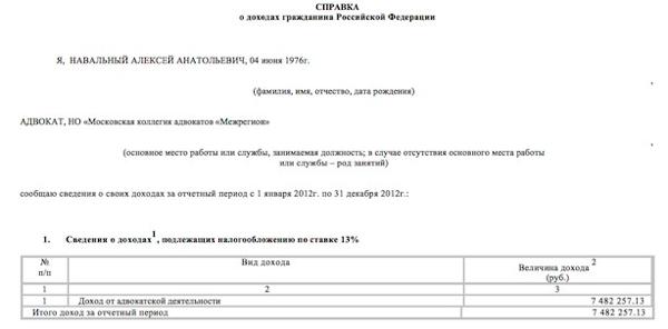 Декларация навального